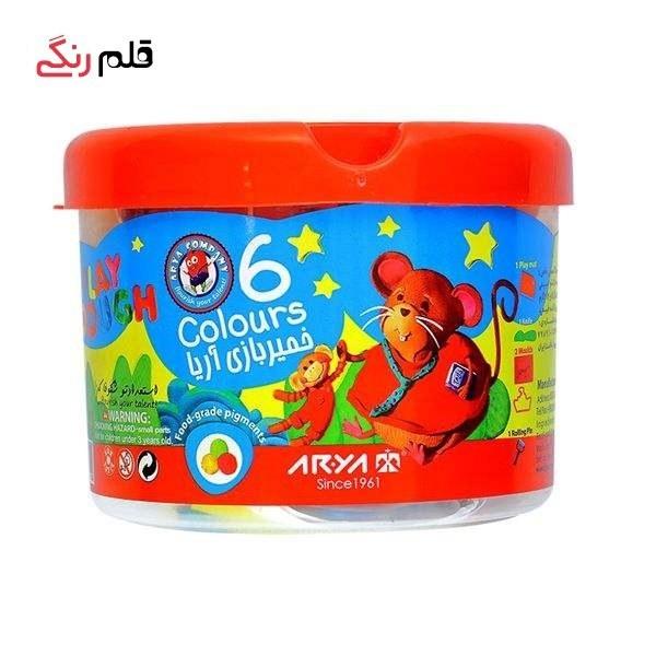 تصویر خمیربازی 6 رنگ آریا کد 1001 Aria 6 Color Dough Code 1001