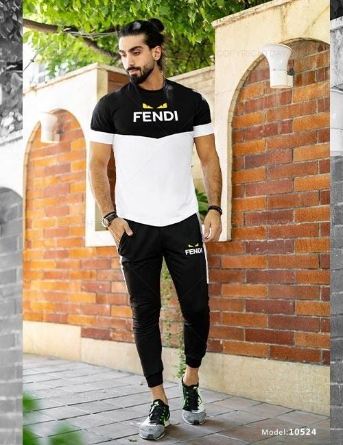 ست تیشرت و شلوار مردانه Fendi مدل 10524  