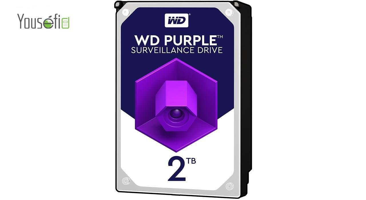 تصویر هارددیسک اینترنال وسترن دیجیتال سری بنفش مدل WD20PURX ظرفیت 2 ترابایت Western Digital Purple Internal Hard Drive - 2TB