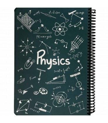 تصویر دفتر سیمی فیزیک دات نوت 100 برگ
