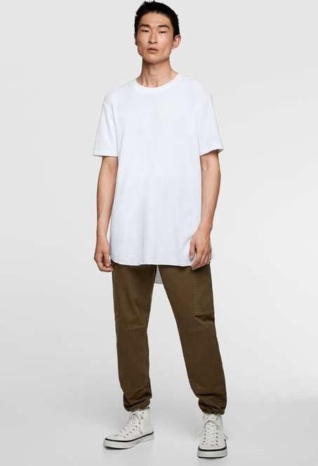 تی شرت آستین کوتاه زارا با کد 0722/302/WHITE ( CHECK-TEXTURED WEAVE SHIRT ) | تی شرت آستین کوتاه مردانه زارا