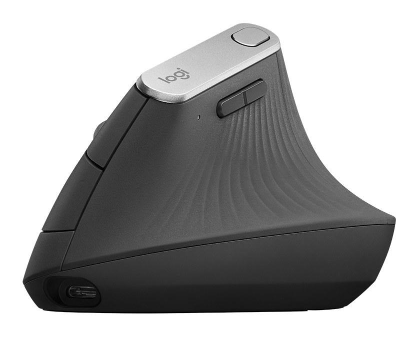 تصویر ماوس ارگونومیک بی سیم لاجیتک مدل MX Vertical - سازگار با انواع سیستم عامل های ویندوز، مک و اندروید Logitech MX Vertical Advanced Ergonomic Mouse, Wireless via Bluetooth or Included USB Receiver