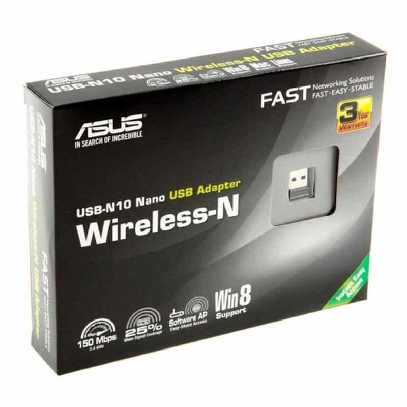 Asus USB-N10 Nano Wireless-N150 USB Nano Adapter
