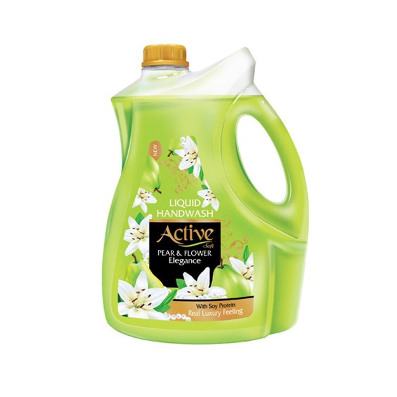 تصویر مایع دستشویی سبز اکتیو/4لیتری