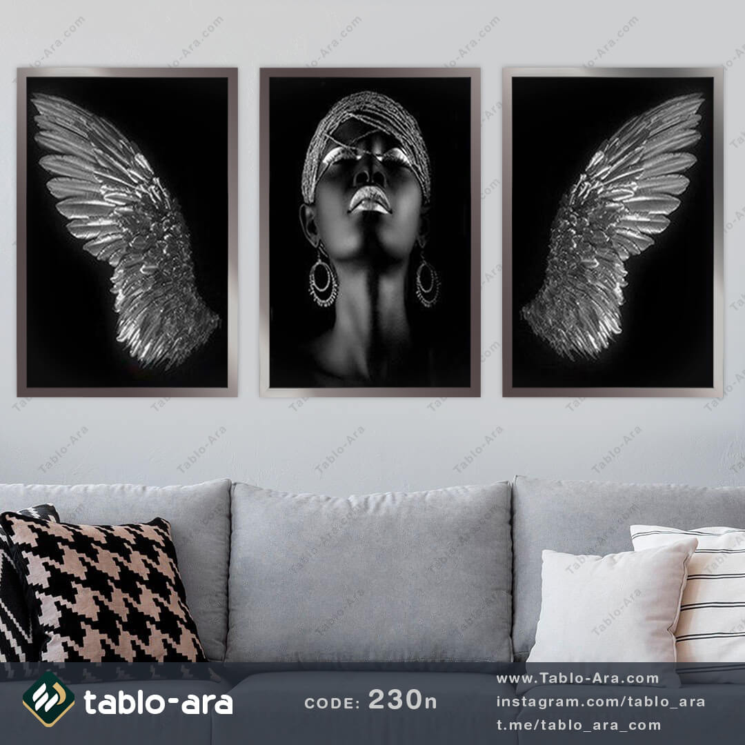 تصویر تابلو مدرن سه تیکه کد 230