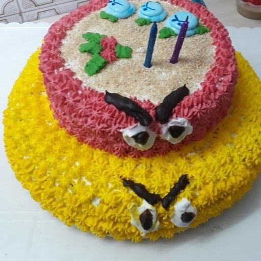 کیک تولد خامه ای(یک کیلویی) |