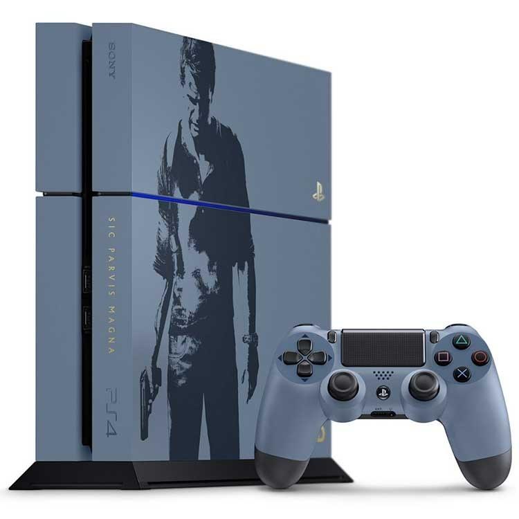 تصویر PlayStation 4 500GB - R1 - Uncharted 4 Limited Edition Bundle - CHU 1215A