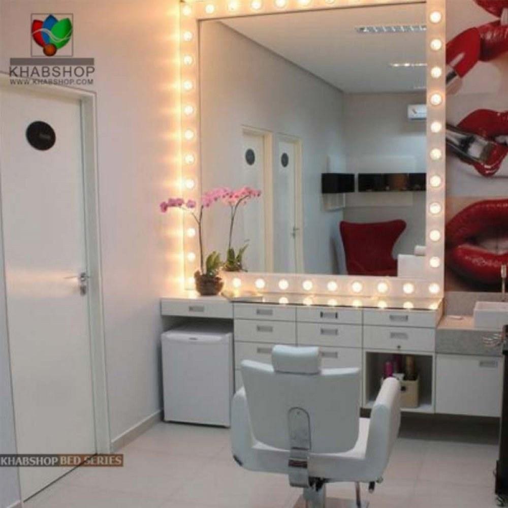 تصویر ست میز آرایش و آینه چراغ دار 4