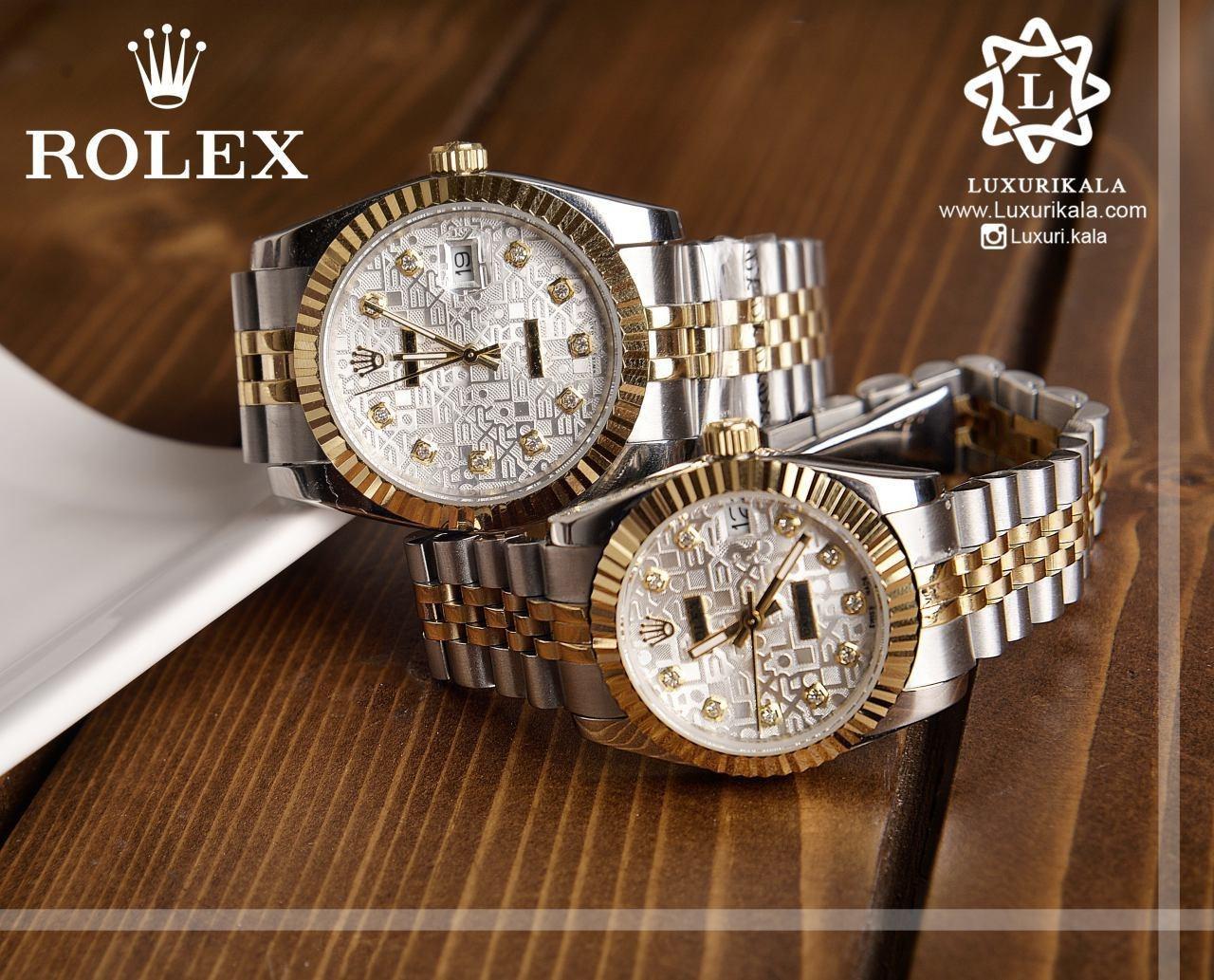 ساعت ست زنانه و مردانه لاکچری ROLEX