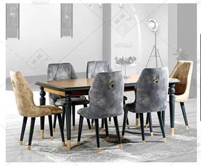 تصویر میز و صندلی ناهارخوری گلد