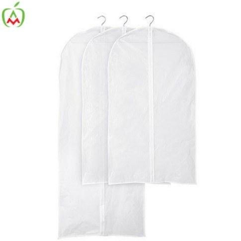 تصویر کاور لباس 90 سانتی سفید بسته 3 عددی