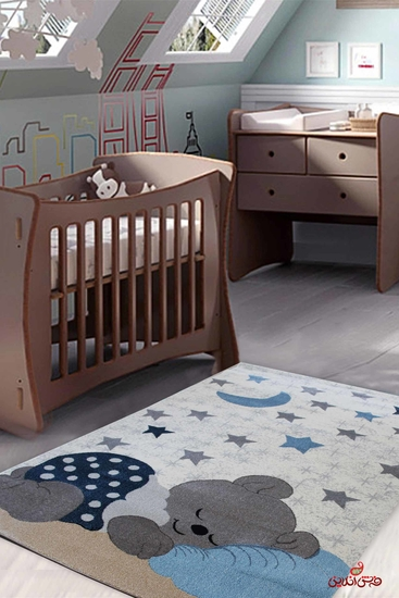فرش ماشینی کودک ساوین 4035 کرم |
