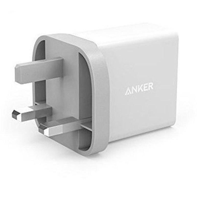 تصویر شارژر دیواری انکر 18 وات مدل PowerPort plus 1 B2013 همراه با کابل micro USB Anker PowerPort PluS 1B2013 Wall Charger
