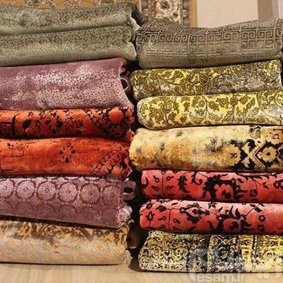 فرش ماشینی تمام ابریشم طبیعی