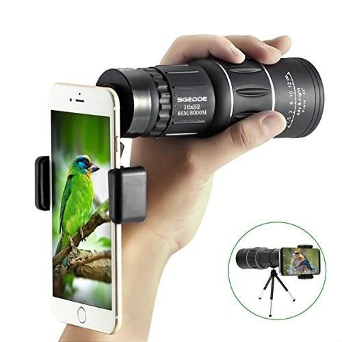 دوربین تک چشمی تلسکوپی ضد آب مخصوص بزرگنمایی موبایل ، عکسبرداری و تماشی طبیعت محصول برند SGODDE . |