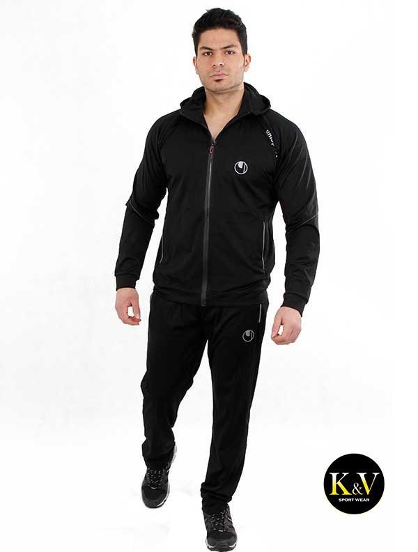 تصویر ست گرمکن شلوار ورزشی آلشپرت کلاهدار uhlsport hooded sports pants set