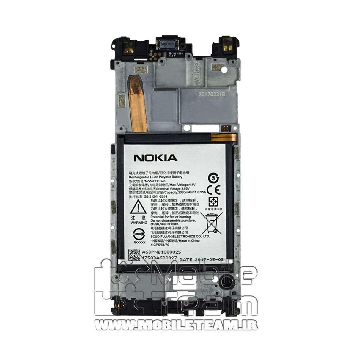 تصویر باتری موبایل مدل HE328 مناسب برای گوشی موبایل Nokia 8 HE328 Battery For Nokia 8