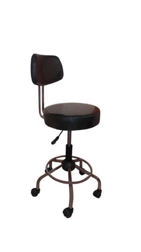 تصویر صندلي تابوره جک دار پشتی دار چرخ دار