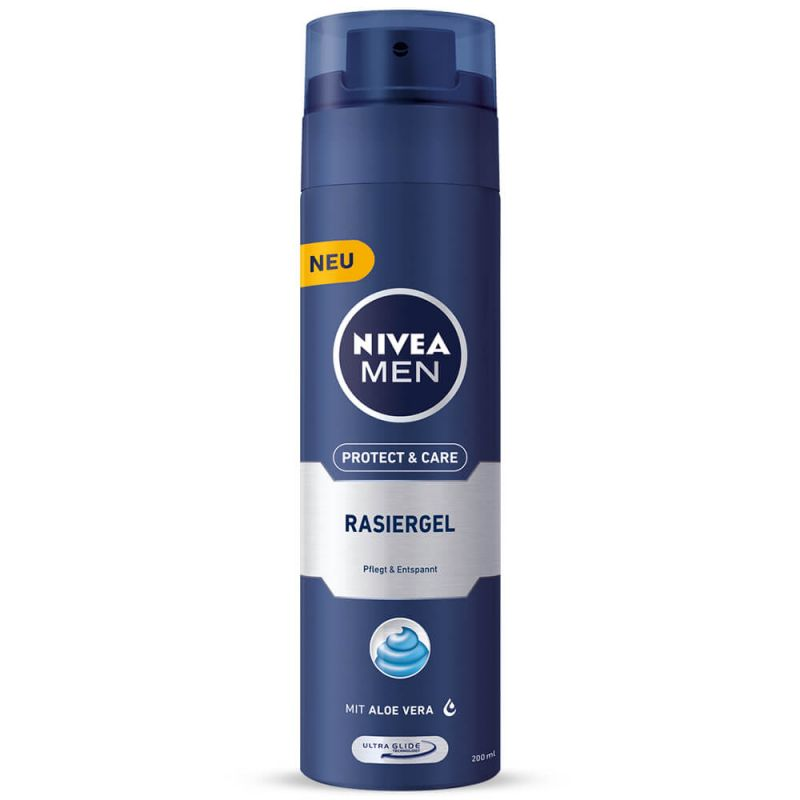 تصویر ژل اصلاح مردانه نیوا مدل Protect And Care حجم 200 میل Nivea Protect And Care Shaving Gel For Men 200 ml