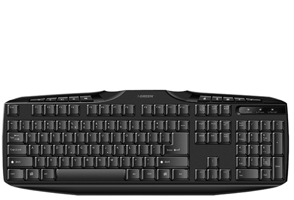 تصویر کیبورد گرین مدل Green GK-302 با حروف فارسی Green GK-302 Keyboard With Persian Letters