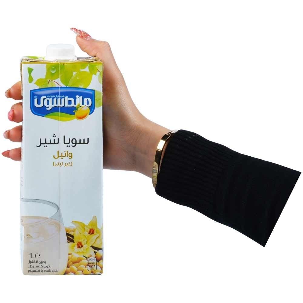 تصویر سویا شیر وانیلی مانداسوی 1 لیتری -