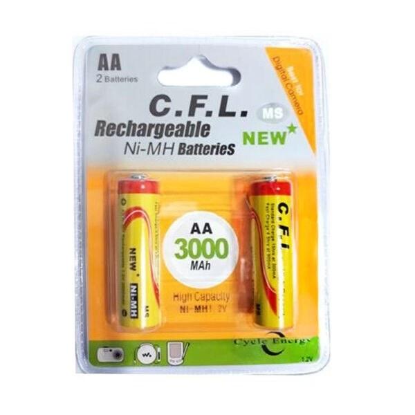 باتری قلمی AA شارژی CFL 3000 |