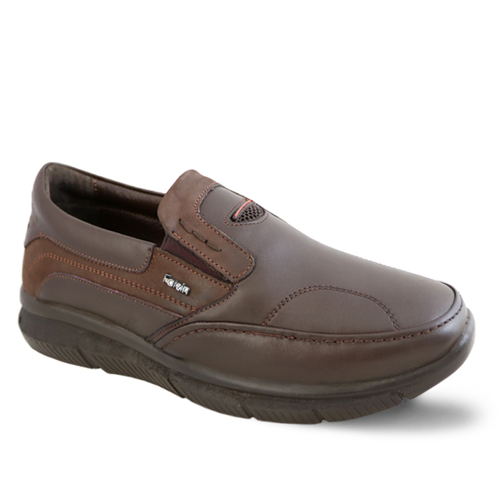 تصویر کفش چرم راحتی طبی مردانه فرزین مدل ونتوسا