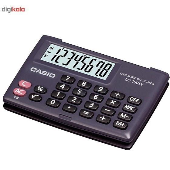 img ماشين حساب کاسيو  LC-160LV-BK-WSX-100 Casio LC-160LV-BK-W Calculator
