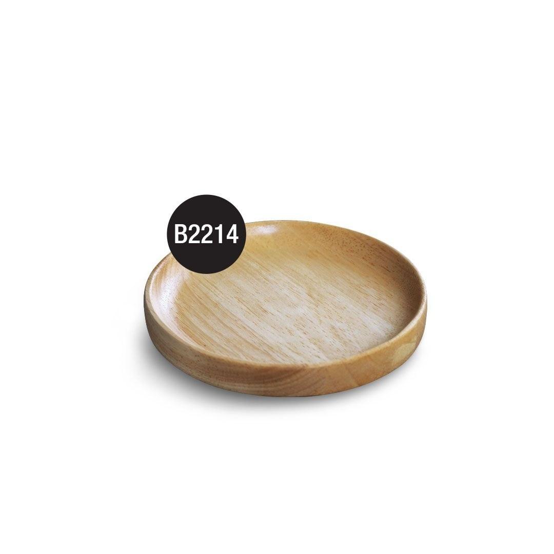 تصویر R2214 زیر لیوانی گرد چوبی 11.5*11.5