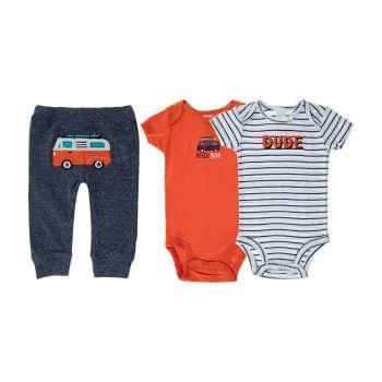 ست 3 تکه  لباس نوزادي پسرانه کارترز کد 697  