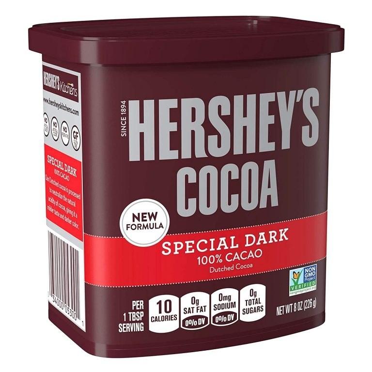 تصویر پودر کاکائو 100% خالص هرشیز دارک 226 گرم