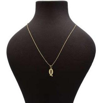 گردنبند طلا 18 عیار زنانه آمانژ طرح Q کد 768D3159 |