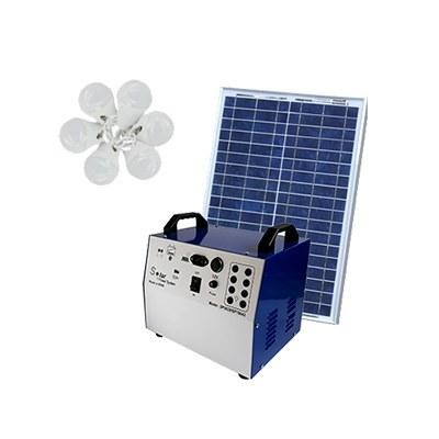 تصویر پکیج خورشیدی 100 وات، باتری 42 آمپرساعت مناسب روشنایی و شارژ موبایل