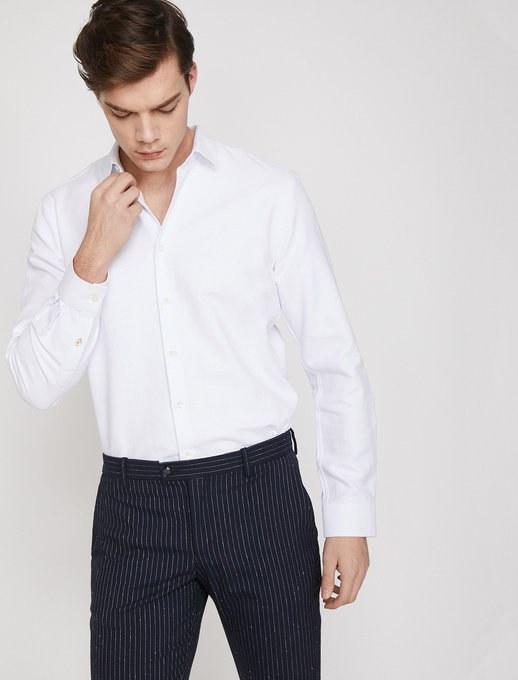پیراهن آستین بلند مردانه کوتون | پیراهن آستین بلند کوتون با کد 9YAM69589OW000