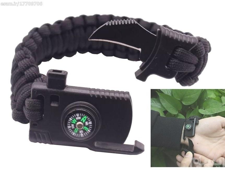 عکس دستبند پاراکورد بقا مدل چاقودار رنگ مشکی  دستبند-پاراکورد-بقا-مدل-چاقودار-رنگ-مشکی