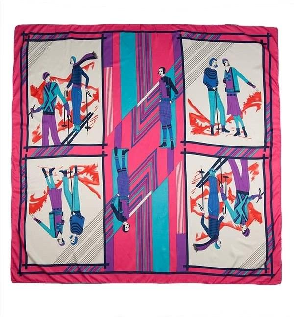 روسری ابریشم ماسیمو دوتی مدل SC96036 طرح هرمس