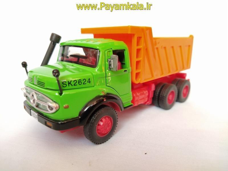 کامیون کمپرسی بنز مایلر رنگ سبز