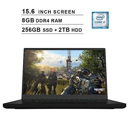 تصویر Razer 2019 Blade 15.6 Inch FHD Gaming Laptop (Intel 6-Core i7-8750H تا 4.1 گیگاهرتز ، 8 گیگابایت رم ، 256 GB SSD 2TB HDD ، NVIDIA GeForce GTX 1060 ، WiFi ، بلوتوث ، HDMI ، ویندوز 10 صفحه اصلی)