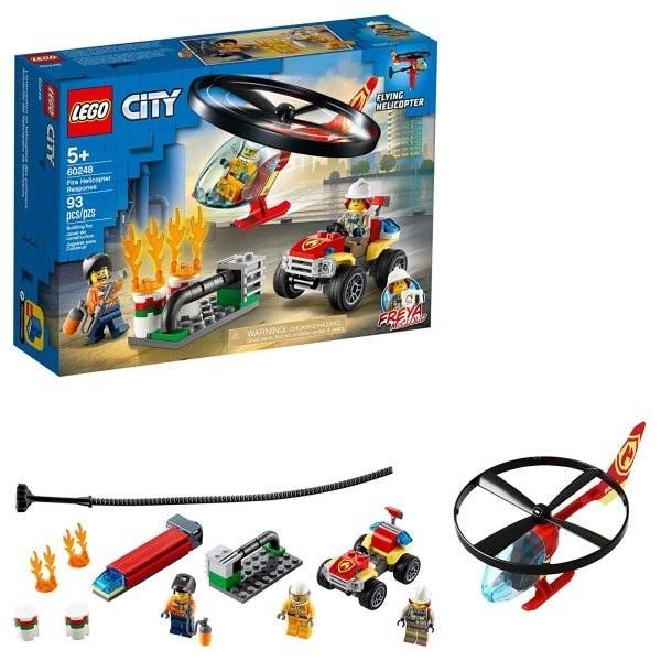 تصویر ساختنی لگو سیتی هلی کوپتر آتش نشانی Lego City Fire Helicopter Response 60248