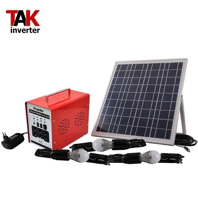 تصویر پکیج برق خورشیدی قابل حمل 30 وات مدل SL3017 بدون باتری pack solar power 30 watt Portable SL3017