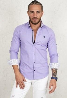 تصویر پیراهن مردانه ترک مجلسی برند دیپسی رنگ بنفش کد ty47602272