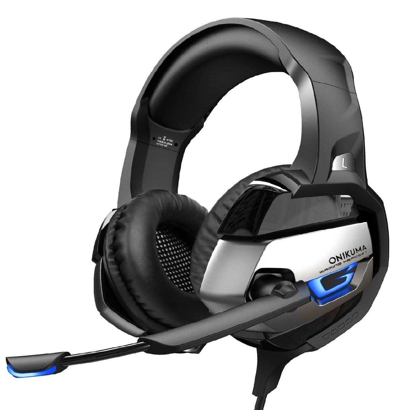 تصویر هدست مخصوص بازی اونیکوما مدل k5 ا Onikuma K5 Gamming Headset Onikuma K5 Gamming Headset