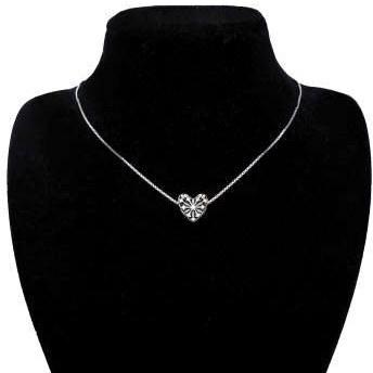 گردنبند نقره زنانه آی جواهر طرح قلب برفی کد 77351G |