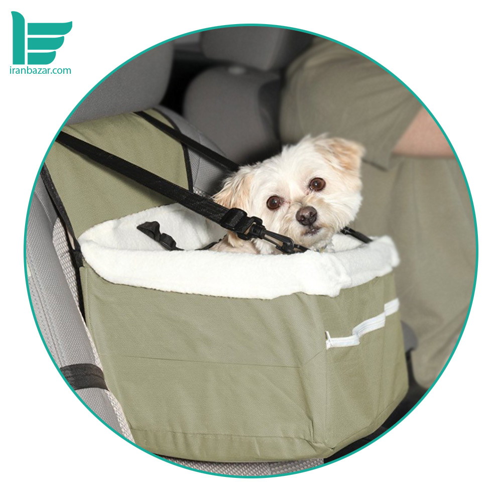 صندلی مخصوص نشستن حیوانات خانگی در خودرو مارگون - Margoun Portable Car Dog Booster Seat with Clip-On Safety Leash and Zipper Storage Pocket |