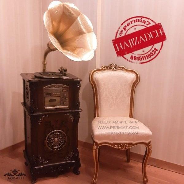 WALTHER والتر گرامافون مبله +رادیو + سی دی +یو اس  2515-BROWN |