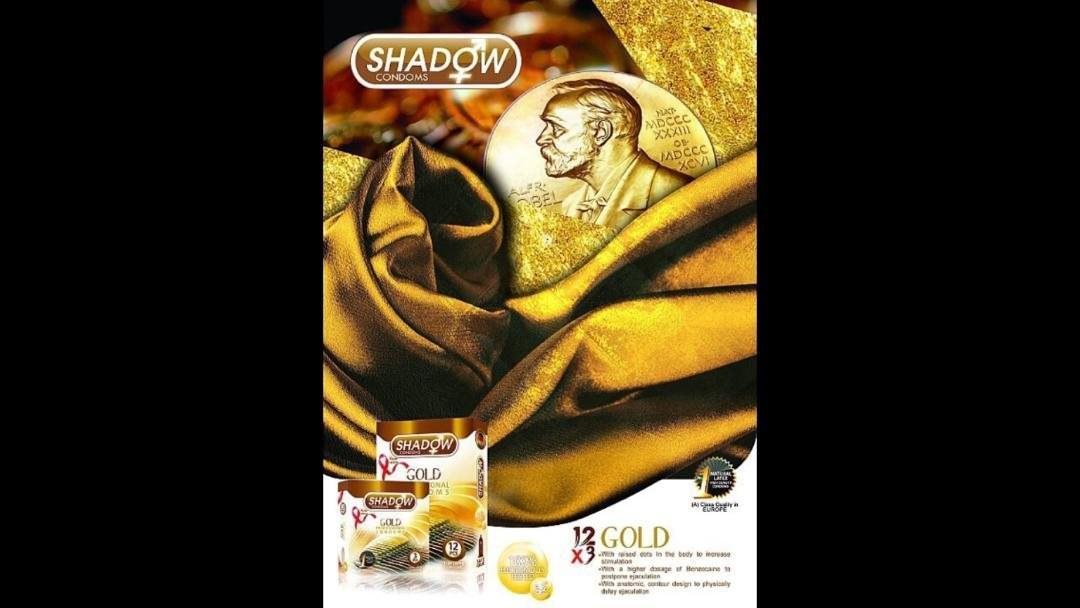 تصویر کاندوم شادو مدل Gold بسته 12 عددی