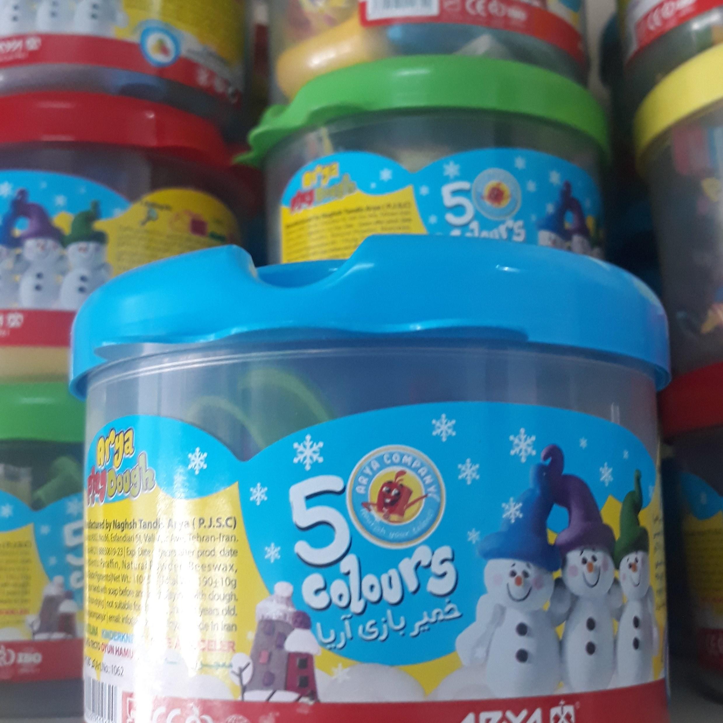 تصویر خمیر بازی 5 رنگ سطلی آریا کد  1062 ا Arya ۱۰۶۲ Play Dough - ۵ colors Arya ۱۰۶۲ Play Dough - ۵ colors