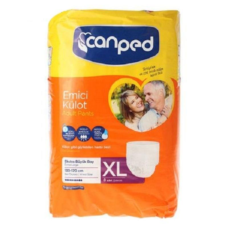 تصویر پوشک بزرگسال شورتی جان پد سایز خیلی بزرگ EXTRA LARGE تعداد 8 عددی Paddy adult diapers canped EXTRA LARGE size 8-pc