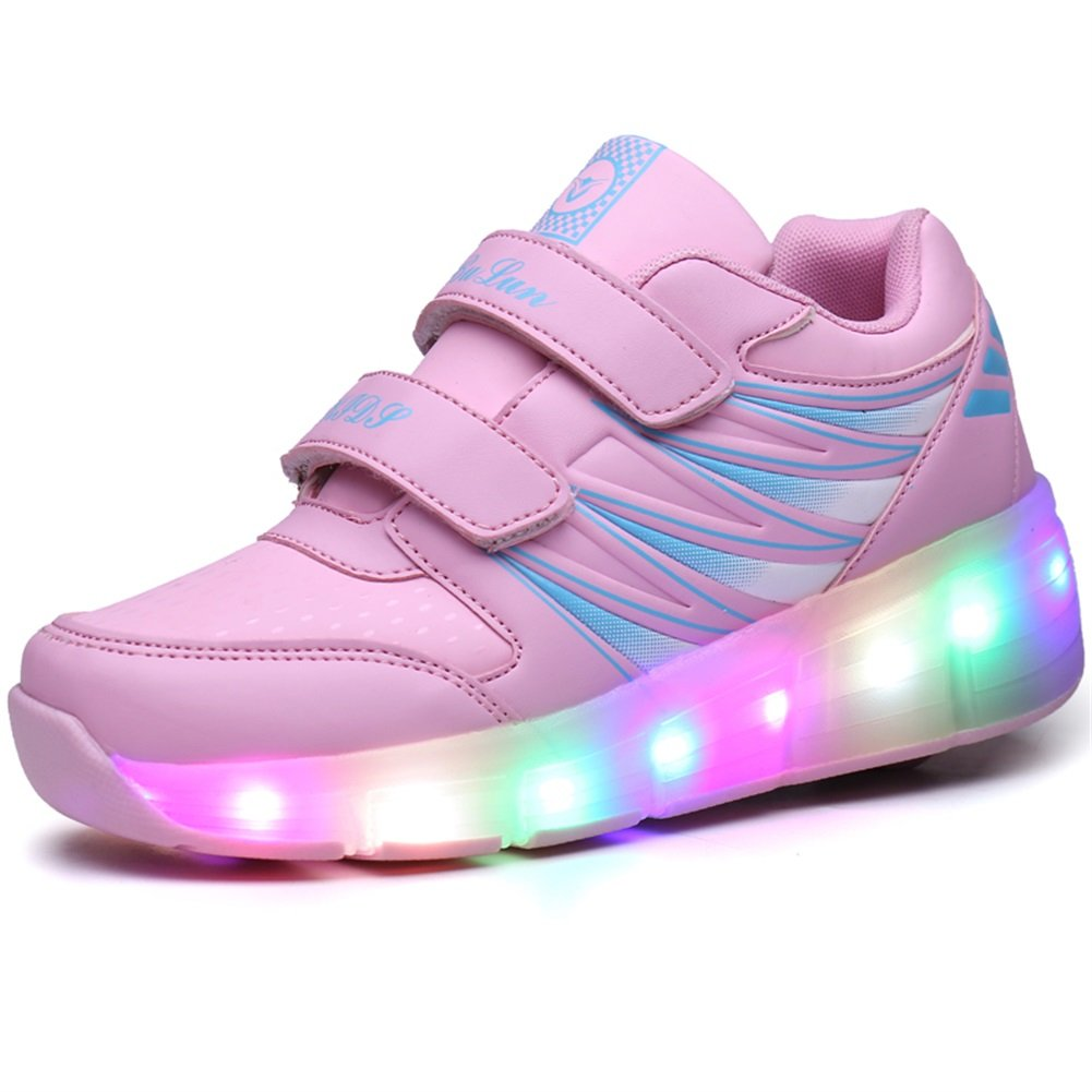 Ufatansy Uforme Kids Wheelies Lightweight Fashion Sneakers LED Light Up Shoes Single Wheel Double Wheels Roller Skate Shoes |