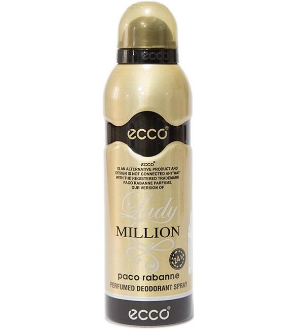 اسپری زنانه اکو مدل Paco Rabanne lady Million حجم 200 میلی لیتر